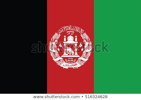 Afganistan bayrak beyaz dünya imzalamak kırmızı Stok fotoğraf © butenkow