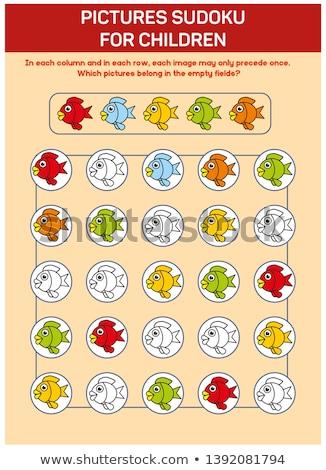 sudoku game fun fruits stock photo © olena