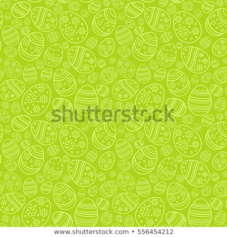 Green easter egg with pattern stock photo © Vicasso