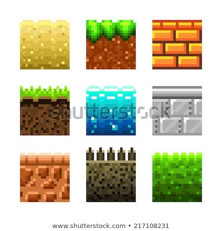 ピクセル · レンガ · ベクトル · 古い · ゲーム · ヴィンテージ - ストックフォト © Macartur888