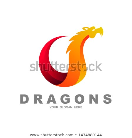 Red Snake Shaped Letter S Vector Illustration Stock photo © cidepix