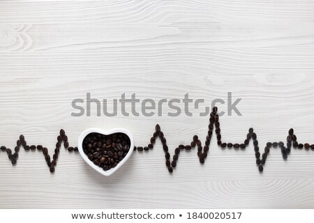 Beans laid in shape of heart Stock photo © dash