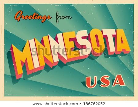 Rajz Minnesota illusztráció mosolyog grafikus Amerika Stock fotó © cthoman