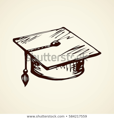 Student Graduation Cap Closeup Vector Illustration Stock photo © robuart