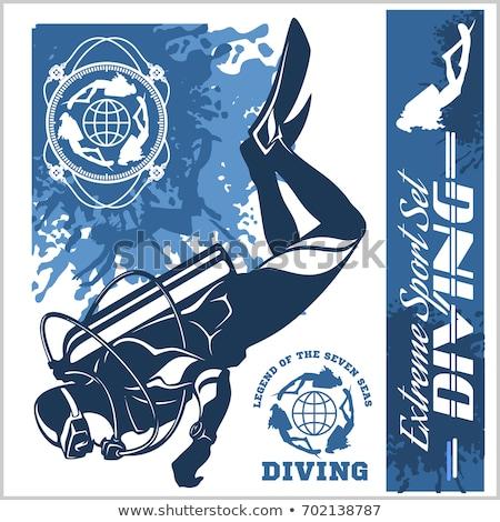 Scuba Diving Elements Illustration Stock photo © lenm
