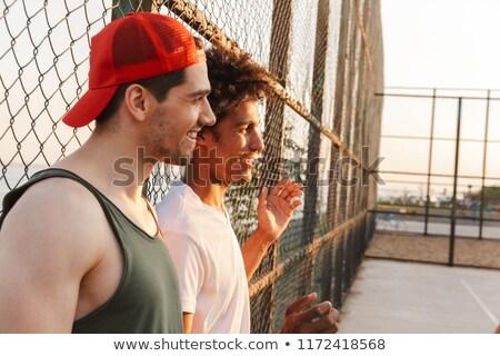 grupo · jovem · amigos · basquetebol · jogadores - foto stock © deandrobot