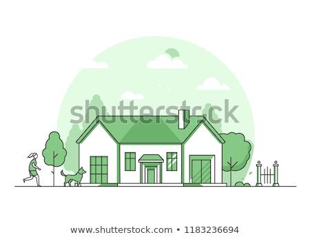 郊外 · 市 · 建物 · 建設 · 風景 · ドア - ストックフォト © decorwithme