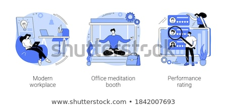 office meditation booth concept vector illustration stock photo © rastudio