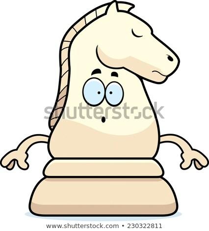 caballero · ilustración · caballo · icono · diseno - foto stock © cthoman