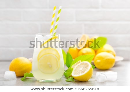 Sarı meyve suyu limonata limon komik Stok fotoğraf © rogistok