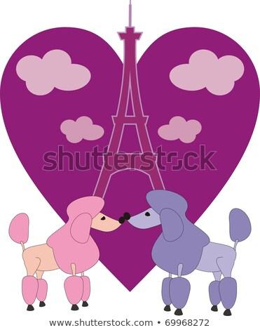 Cartoon caniche amour illustration souriant graphique Photo stock © cthoman