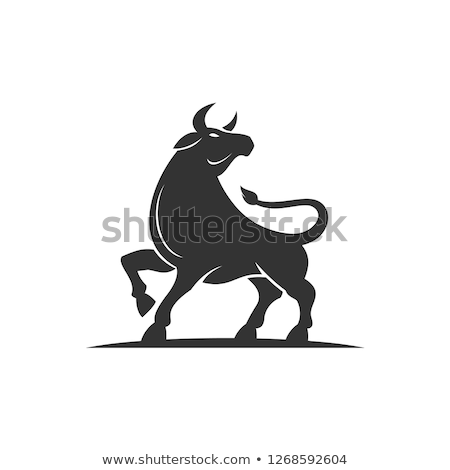 black cow vector logo icon design stock photo © blaskorizov