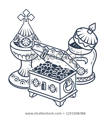 traditional Magi offerings icon  white background Stock photo © Olena