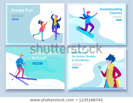 Winter extreme sports concept landing page. Stock photo © RAStudio