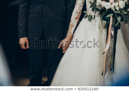 stijlvol · bruid · bruidegom · boeket - stockfoto © ruslanshramko