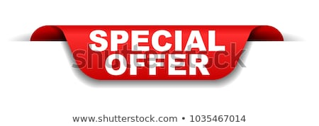 Special Offer Exclusive Sale Vector Illustration Stock photo © robuart