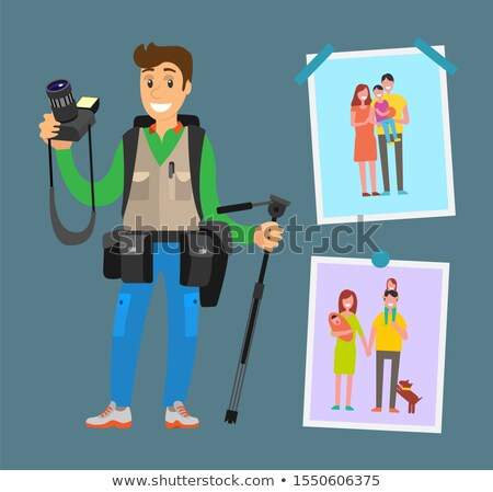 Example Cameraman Content, Family Pictures Parents Stock photo © robuart