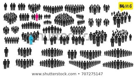 Groep mensen menigte vector icon ontwerp symbool Stockfoto © blaskorizov