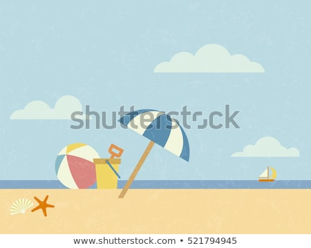 scene with bucket on the beach stock photo © colematt
