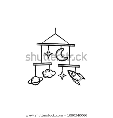 baby mobile toys hand drawn outline doodle icon stock photo © rastudio