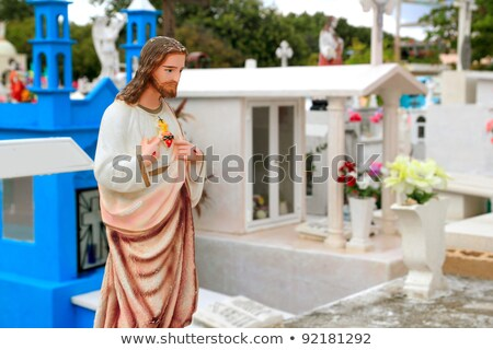 Caraibi cimitero cattolico angelo colorato Messico Foto d'archivio © lunamarina