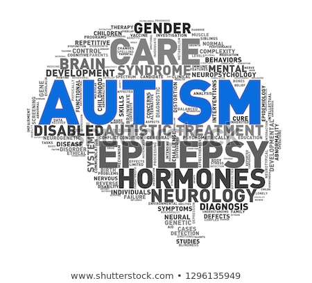Concept of autism wordcloud tag Stock photo © nasirkhan
