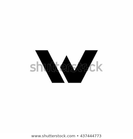 letter w black blue sign symbol icon logotype vector Stock photo © blaskorizov