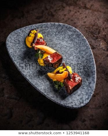 Veado lombo de vaca doce batatas vermelho Foto stock © grafvision