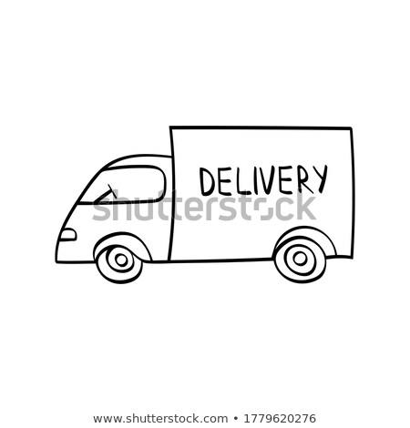 Mail van gryzmolić ikona Zdjęcia stock © RAStudio