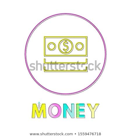 Dollar Bills Depiction Minimalistic Linear Icon Stock photo © robuart
