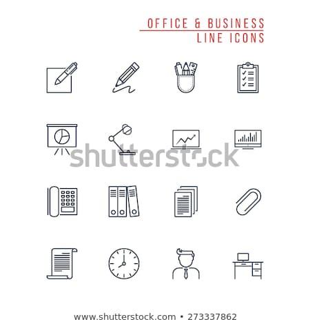 Ofis kâğıt dizüstü bilgisayar ekran telefon ayarlamak Stok fotoğraf © robuart