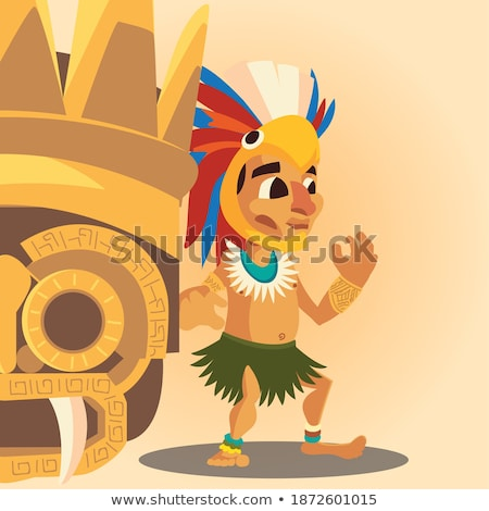 Stock photo: Indian man with ornament headgear