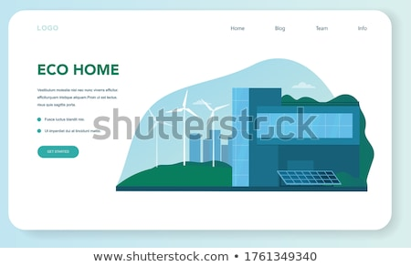 Vertical green city concept landing page. Stock photo © RAStudio