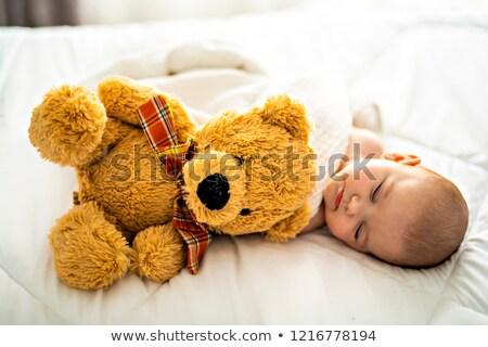 Mes bebé dormir blanco cama casa Foto stock © Lopolo