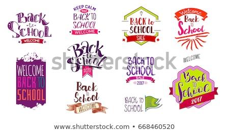 Color vintage back to school sale emblem Stock photo © netkov1