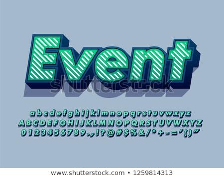 Nyelvek skicc izometrikus minta szett modern Stock fotó © netkov1