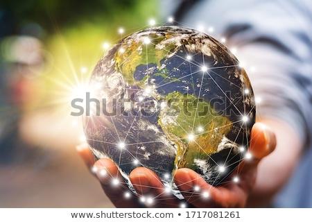 Comunicação internet paz dependência forma planeta Foto stock © Olena