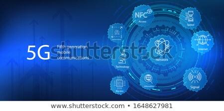 Netwerk technologie digitale gegevens draadloze internet Stockfoto © MarySan