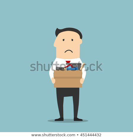 Stok fotoğraf: Character Leaving Workplace After Dismissal Vector
