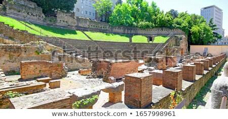 histórico · romano · teatro · ruínas · ver · região - foto stock © xbrchx