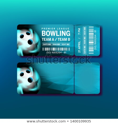 Ticket On Premier League Of Bowling Game Vector Stock photo © pikepicture