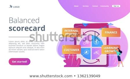 Balanced scorecard concept landing page. Stock photo © RAStudio