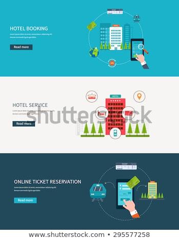 Otel konaklama hareketli uygulama web sitesi Stok fotoğraf © RAStudio