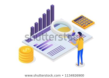 Accounting and banking objects isometric 3D illustration set. Stock photo © RAStudio
