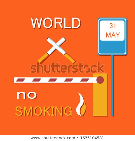 World No Smoking Poster with Two Crossed Cigarette Stock photo © robuart