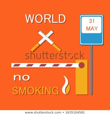 Világ dohányozni tilos poszter kettő cigaretta cigaretta Stock fotó © robuart