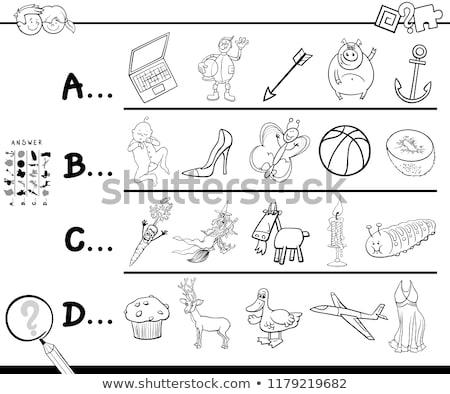 C is for educational task coloring book Stock photo © izakowski