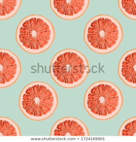 カラフル グレープフルーツ パターン 装飾的な スライス 夏のフルーツ ストックフォト © netkov1