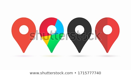 Color Map Pointer Gps Location Sign Detail Symbol Vector Stock photo © pikepicture