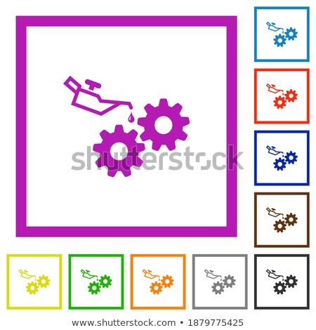 vetor · construção · quadro · maquinaria · isolado · branco - foto stock © robuart
